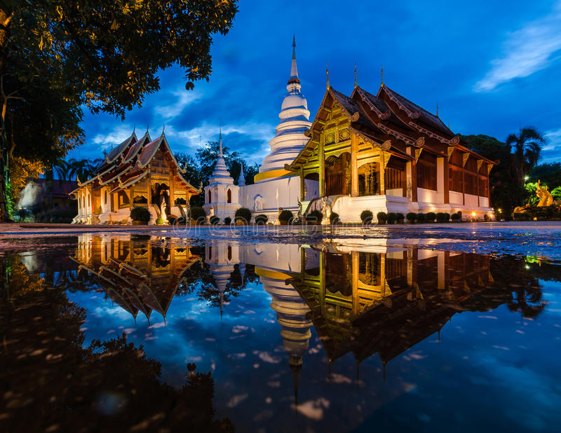 Wat Phra Sing, Chiang Mai, Thailand royalty free stock photo