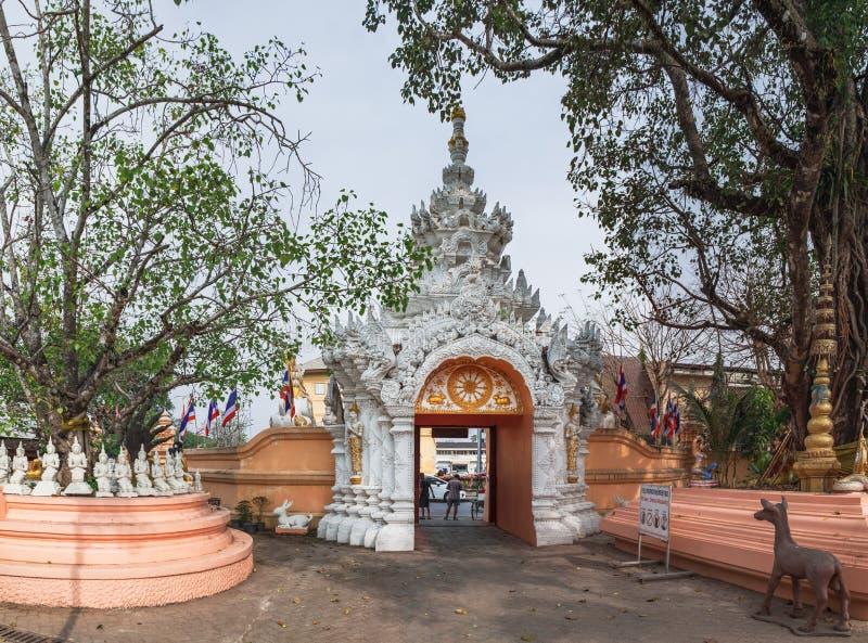 Wat Phra Sing in Chiang Rai, Thailand lizenzfreie stockfotos
