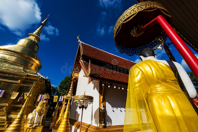 Wat Phra Singh, Chiang Rai stock image