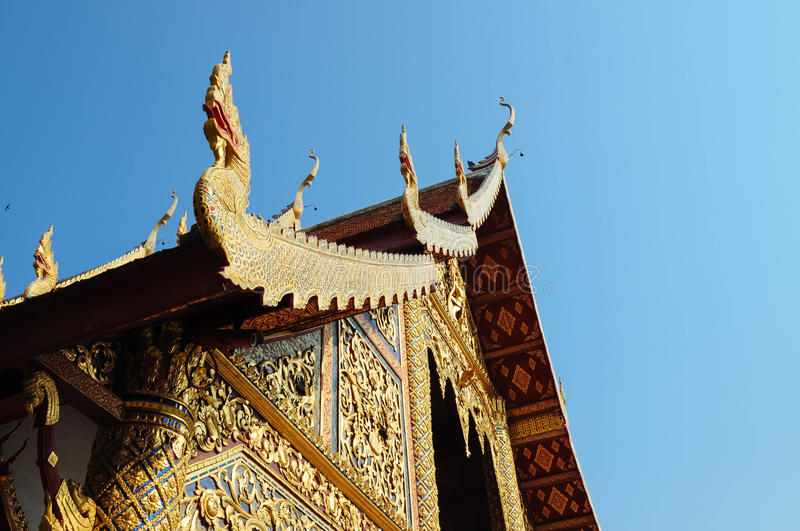 Wat Phra Singh. In Chiangmai Thailand stock photo