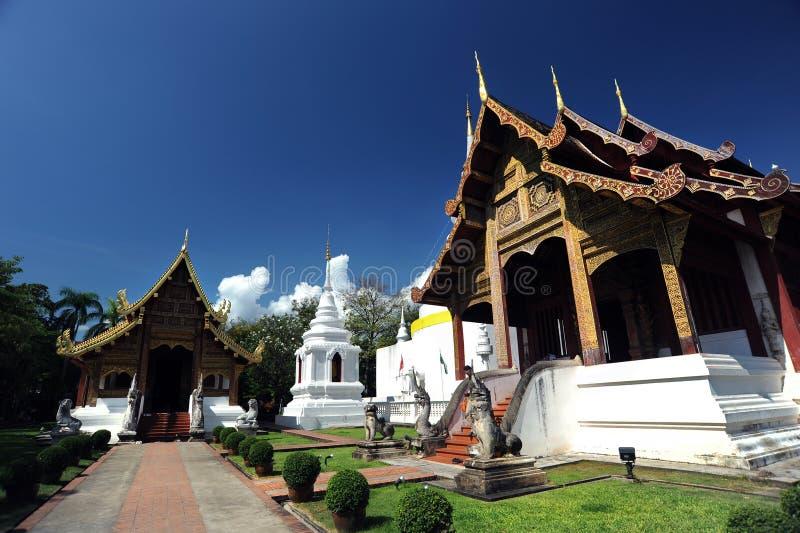 Wat Phra Singh tempel royaltyfria foton