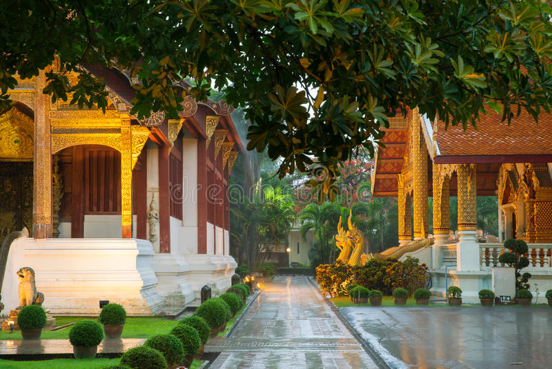Wat Phra Singh Tempel, Chiang Mai, Thailand lizenzfreie stockfotos
