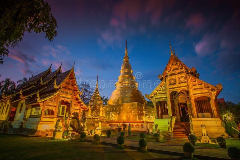 Wat Phra Singh tempel i Chiang Mai, Thailand royaltyfri foto