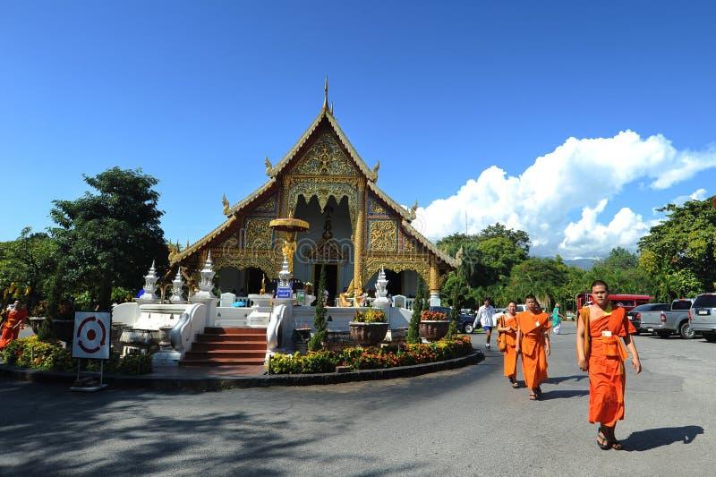 Wat Phra Singh, tempio in Tailandia fotografia stock