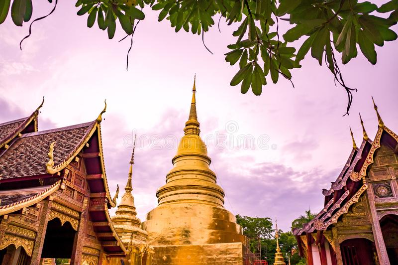 Wat Phra Singh, Phra Singh Temple, Chiang Mai Thaïlande photos libres de droits