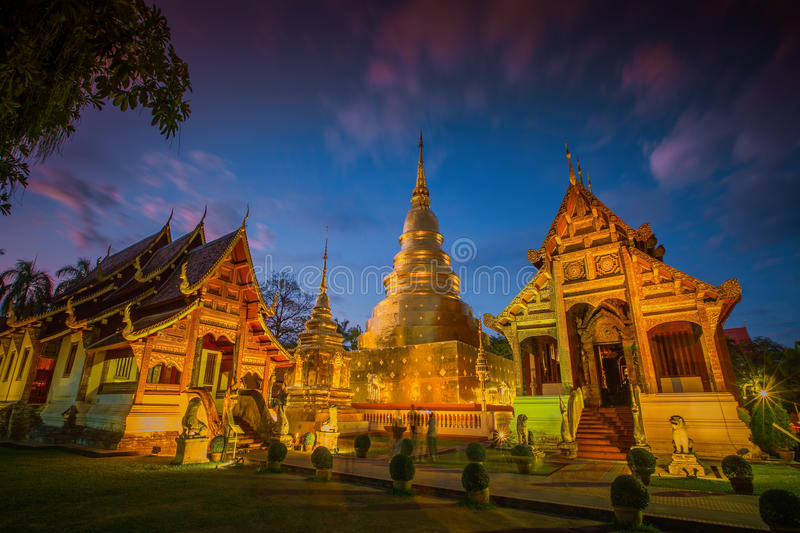 Wat Phra Singh temple in Chiang Mai,Thailand. royalty free stock photo