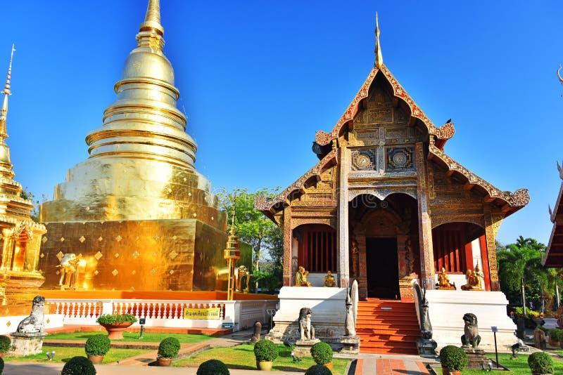 Wat Phra Singh, un tempio buddista in Chiang Mai, Tailandia fotografia stock