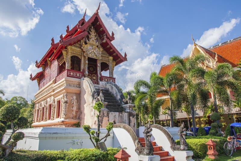 Wat Phra Singh Waramahavihan, Chiang Mai, Thaïlande image libre de droits