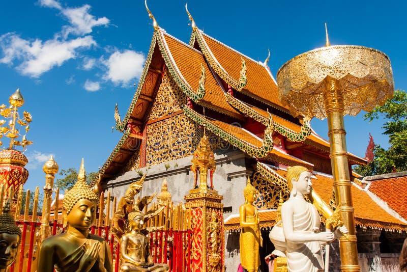 Wat Phra som Doi Suthep, Chiang Mai, Thailand royaltyfria foton