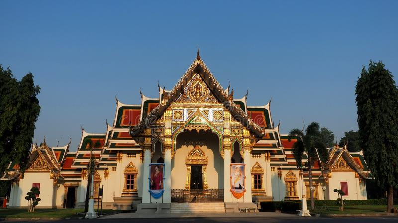 Wat Phra Sri Mahathat bathed in morning light stock images