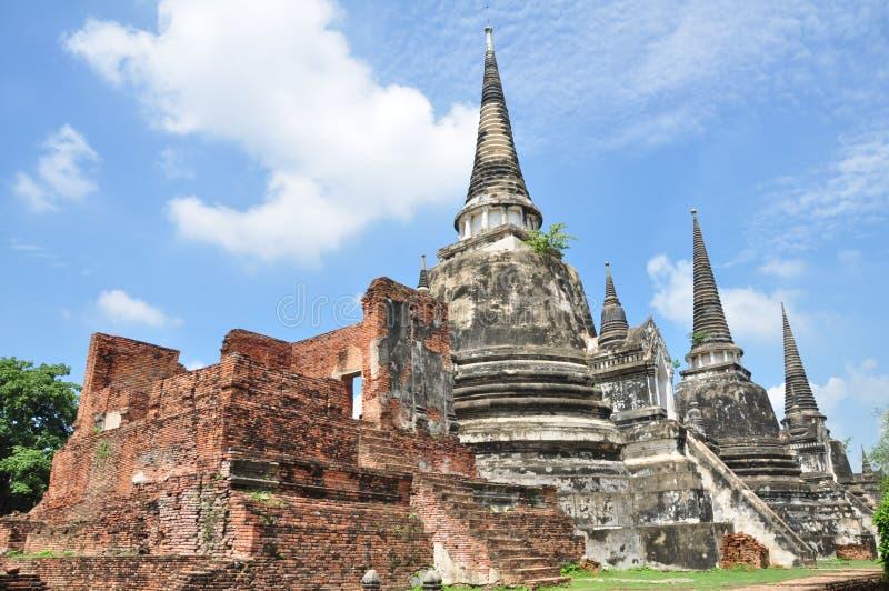 Wat Phra Sri Sanphet寺庙,阿尤特拉利夫雷斯,泰国 库存图片