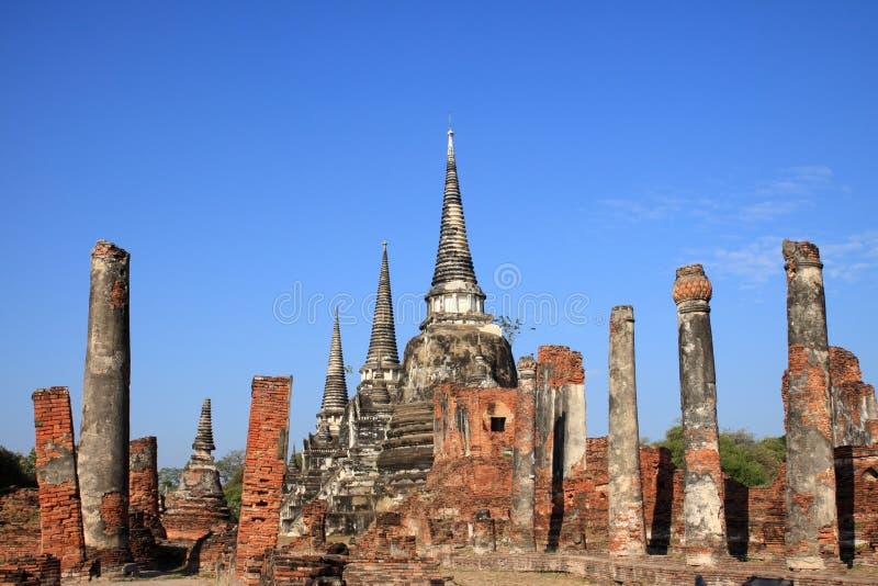 Wat Phra Sri Sanphet, βασιλικό Chedi στοκ φωτογραφίες