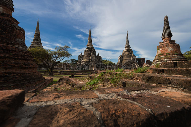 Wat Phra Sri Sanphet royalty-vrije stock afbeelding