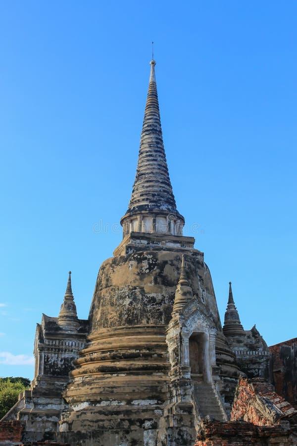 Wat Phra Sri Sanphet ancient beautiful , Ayutthaya, travel Thailand royalty free stock photography