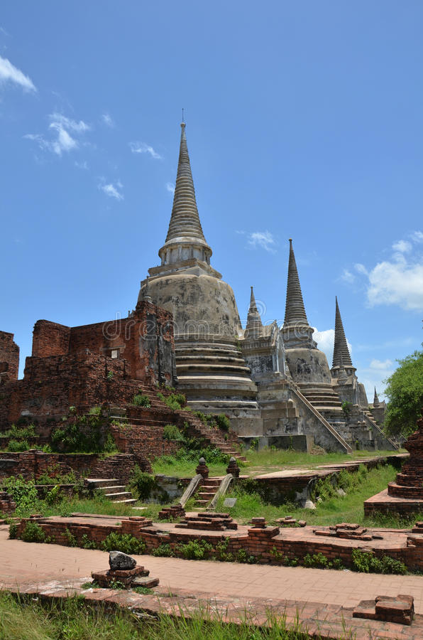 Wat Phra Sri Sanphet at Ayutthaya Historical Park Thailand. Wat Phra Sri Sanphet is situated on the city island in Ayutthaya's World Heritage Park in stock photos