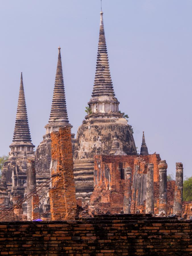 Wat Phra Sri Sanphet, Historic City of Ayutthaya, Thailand royalty free stock photo
