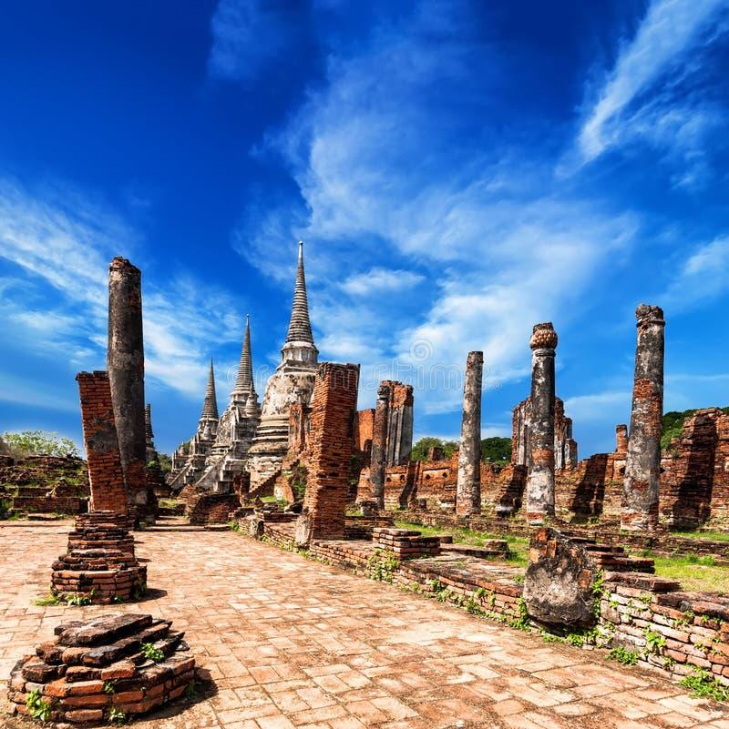Download Wat Phra Sri Sanphet-tempel. Ayutthaya, Thailand Stock Foto - Afbeelding bestaande uit archeologie, openlucht: 39102522