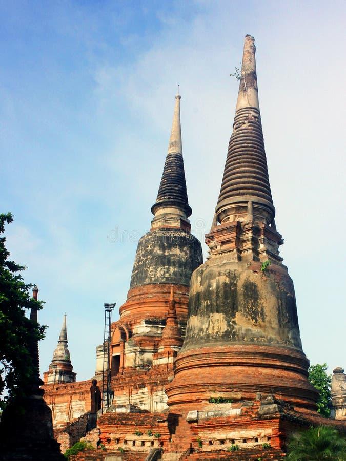 Wat Phra Sri Sanphet, templo antigo em Royal Palace velho da capital Ayutthaya, Tailândia imagens de stock royalty free