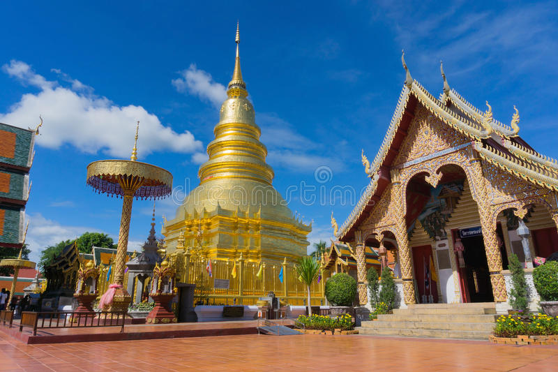 Wat Phra Thad骇黎朋猜公众寺庙 库存图片