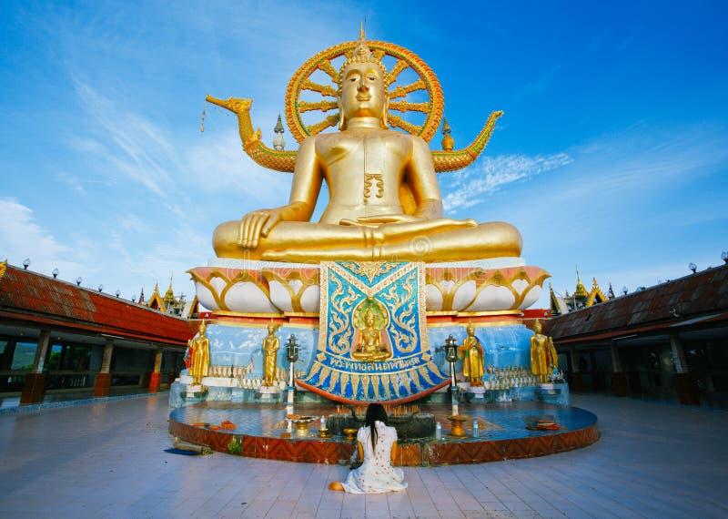 Wat phra yai, the big buddha temple stock photos
