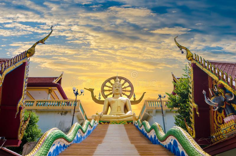 Wat Phra Yai Koh Samui Surat Thani Tailandia immagine stock