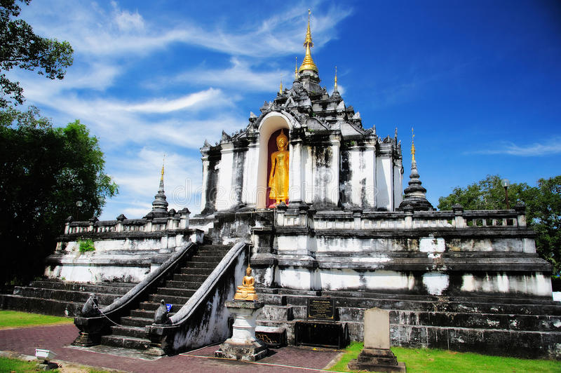 Wat Phra Yuen. One of oldest temples in Northern Thailand. Lamphun (formerly Haripunchai) is amongst the oldest cities in Thailand and predates Chiang Mai by stock photography