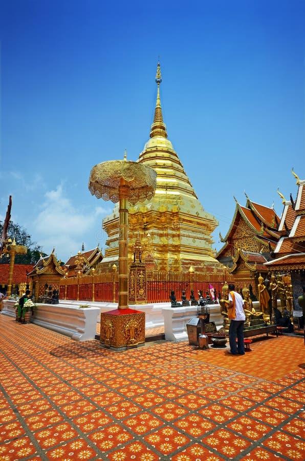 Wat Phrathat Doi Suthep Tempel lizenzfreie stockbilder