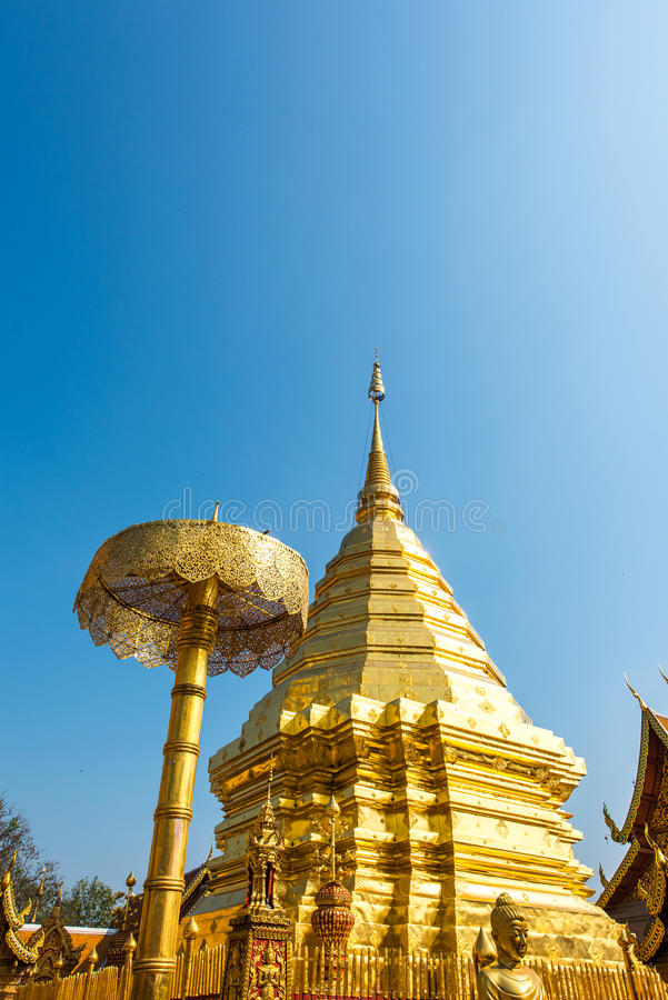 Wat Phrathat Doi Suthep temple in Chiang Mai, Thailand royalty free stock image