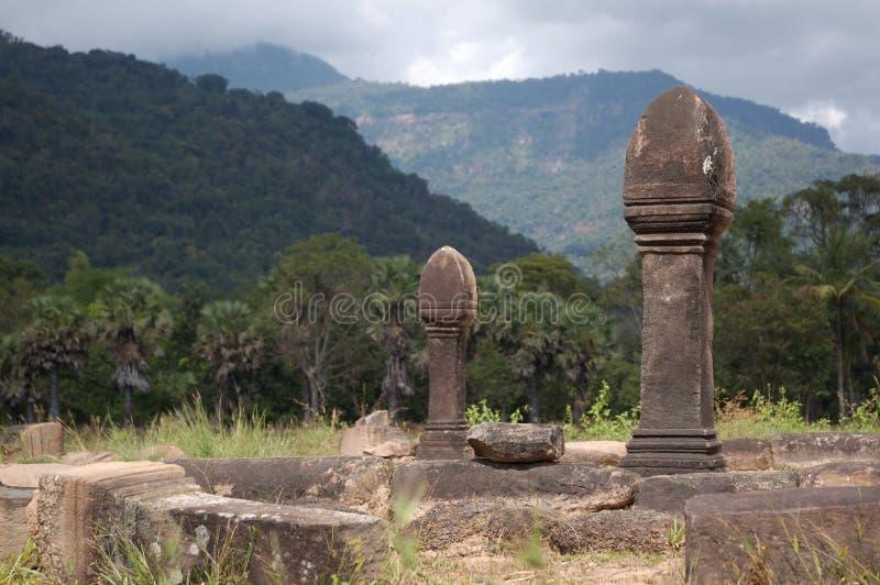 Wat Phu buddist temple in Laos stock photo