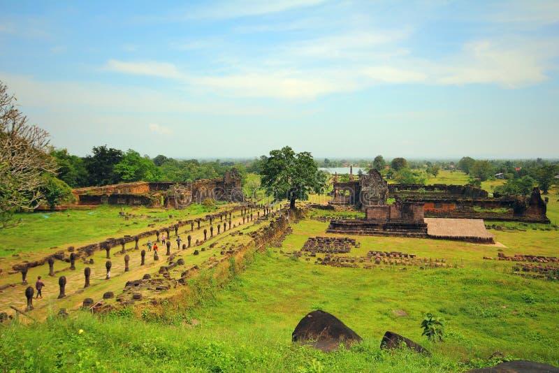 Wat Phu Champa Laos lizenzfreie stockbilder