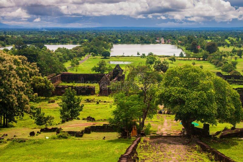Wat Phu Champasak-tempel royalty-vrije stock afbeeldingen