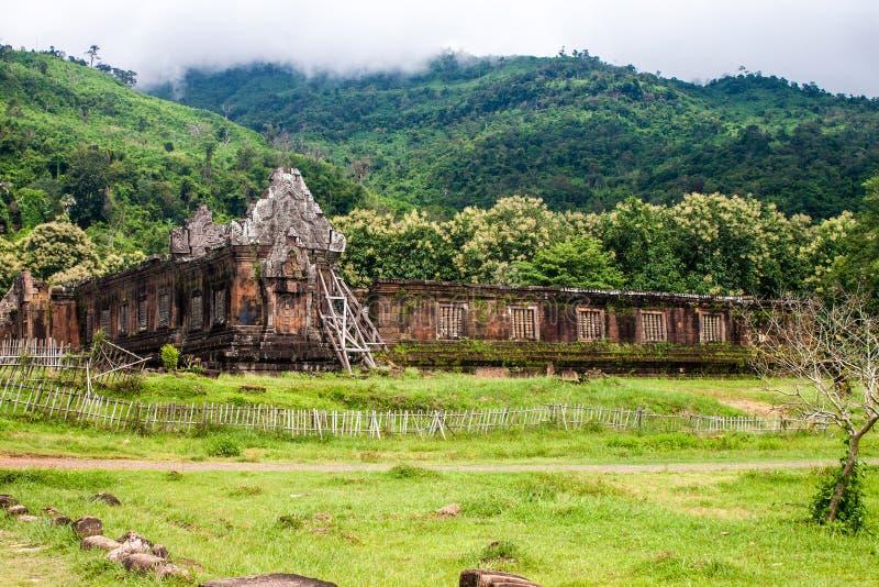 Wat Phu Champasak-tempel stock foto