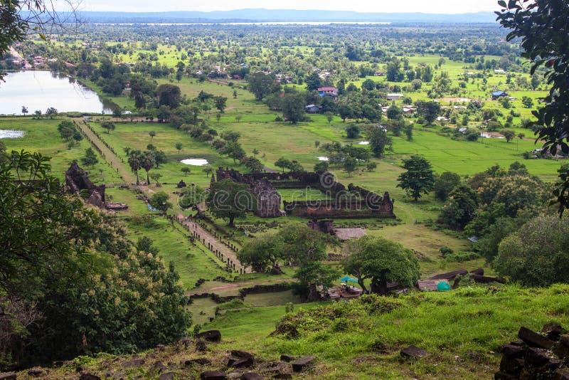 Wat Phu Champasak-tempel royalty-vrije stock foto