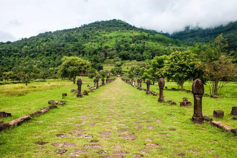 Wat Phu Champasak-tempel stock foto's