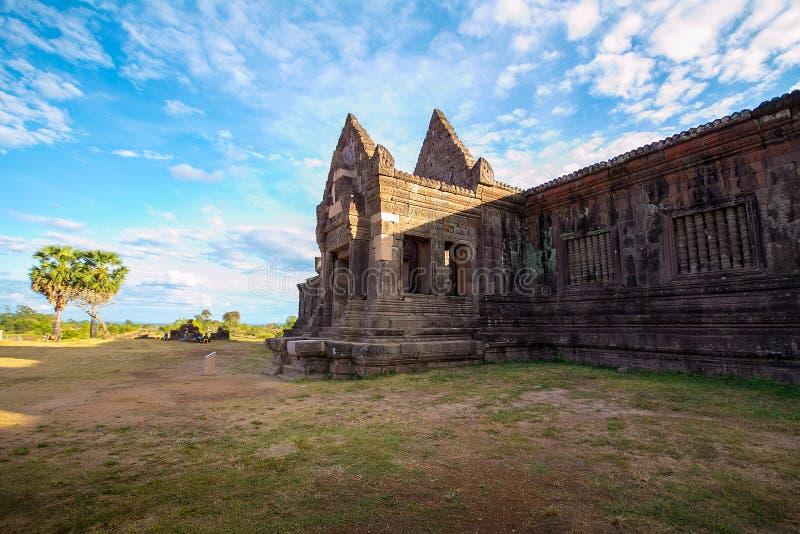 Wat Phu is de Unesco-plaats van de werelderfenis in Champasak royalty-vrije stock afbeeldingen
