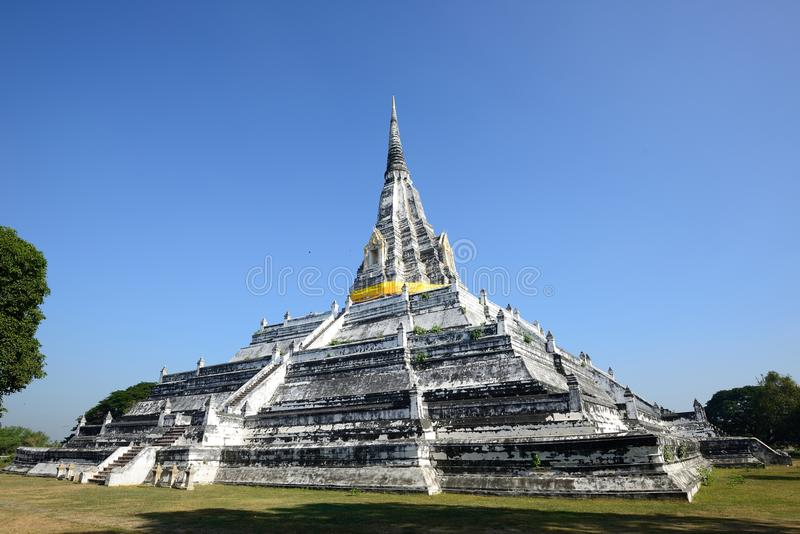 Wat Phu Khao Thong, Ayutthaya fotografia stock