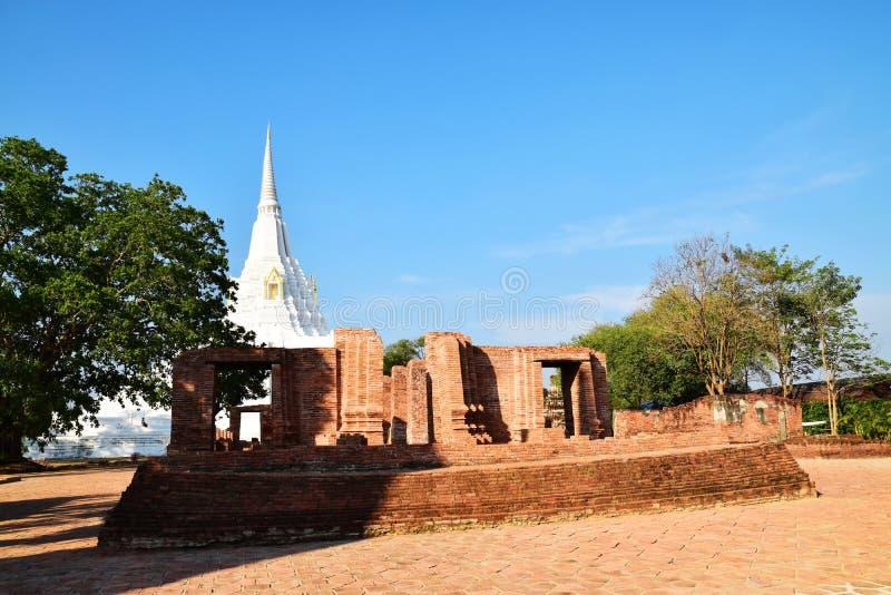 Wat Phu Khao Thong, Ayutthaya, Tail?ndia fotos de stock royalty free
