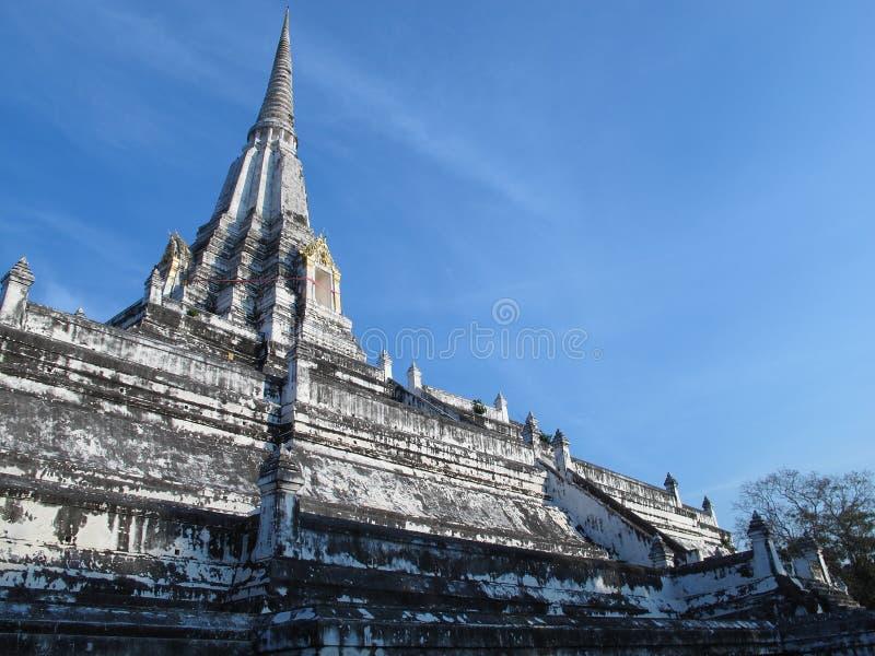 Wat Phu Khao Thong in blue sky royalty free stock photo