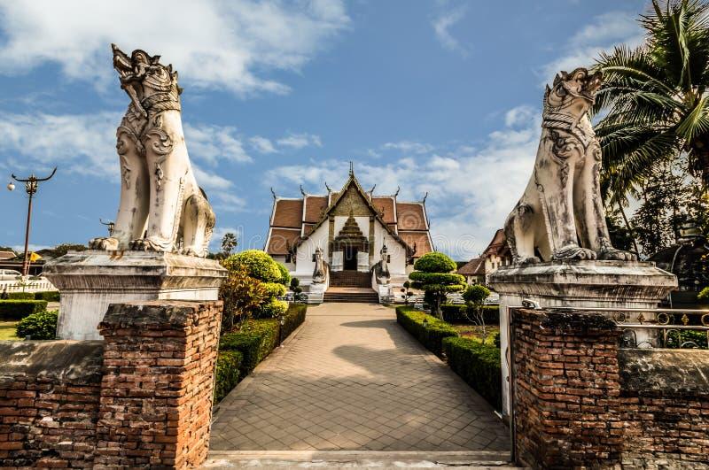 Wat Phu Mintr na província de Nan, Tailândia fotografia de stock royalty free