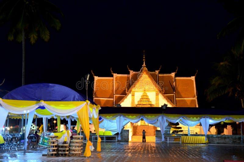 Wat Phu Mintr ou o templo de Phumin são templo antigo para o visi dos povos fotos de stock