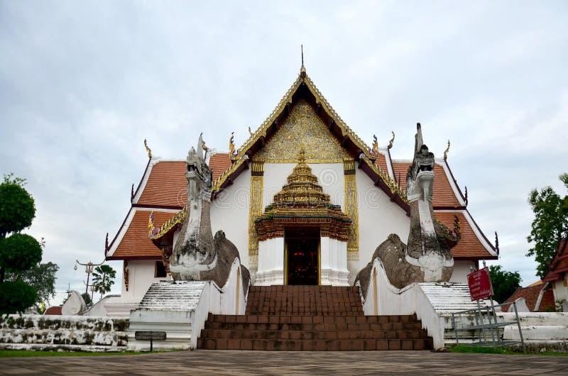 Wat Phu Mintr ou templo de Phumin em Nan, Tailândia imagens de stock royalty free