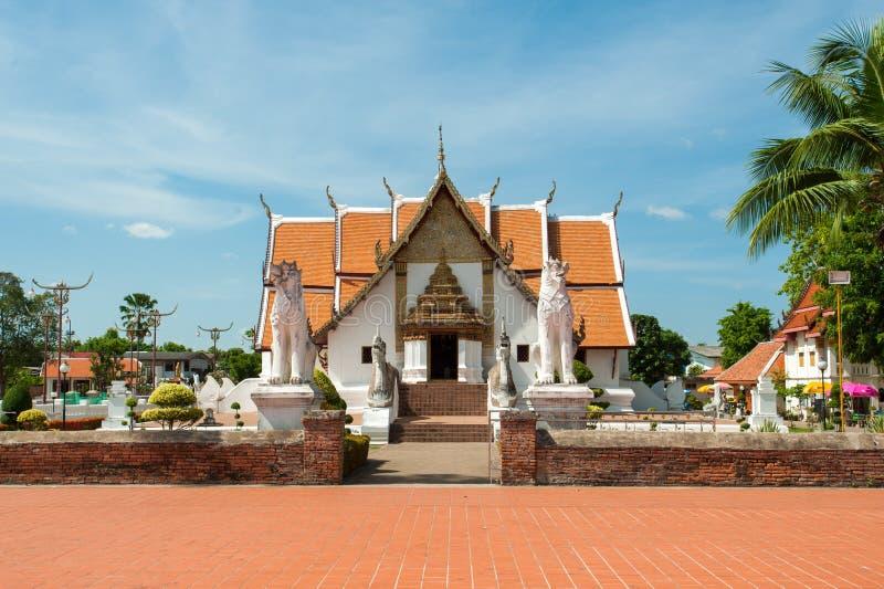 Wat Phu Mintr på det Nan landskapet av Thailand royaltyfri foto