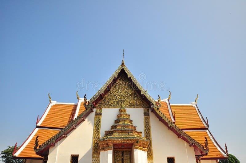 Wat Phu Mintr tempel i nordliga Thailand royaltyfria foton