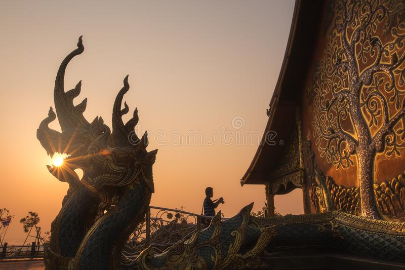 Wat Phu Prao of Wat Siridhornwararam in Ubonratchathani, Thailand stock foto