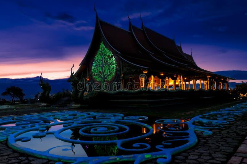 Wat Phu Praw, tempel in Ubonratchathani-provincie, Thailand stock afbeeldingen