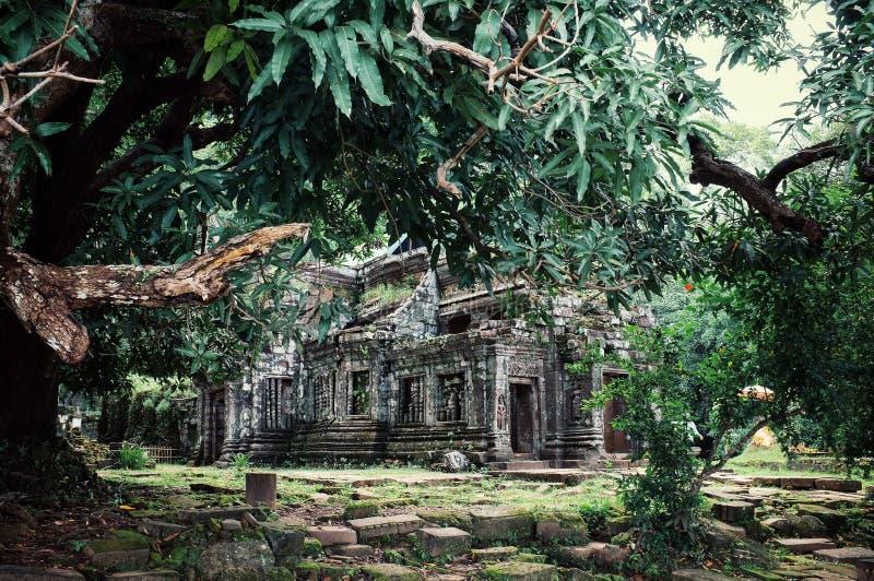 Wat Phu un monument et un UNESCO antiques a protégé le site d'héritage de la forme d'Asie du Sud-Est l'ère d'Angkor photographie stock