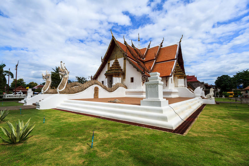 Wat Phumin, Muang District, Nan Province, Thailand. Temple is a public place.Created over 100 years old. Wat Phumin, Muang District, Nan Province, Thailand stock photo