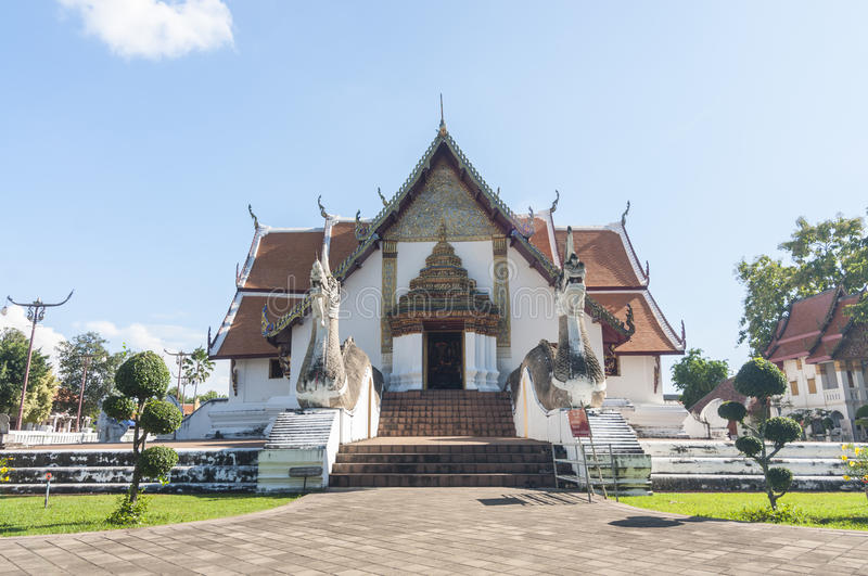 Wat Phumin,Nan, Thailand. Nan, Thailand- October 16,2015: sight seeing at Wat Phumin, a unique thai traditional temple with Lanna style (northen of thailand royalty free stock images