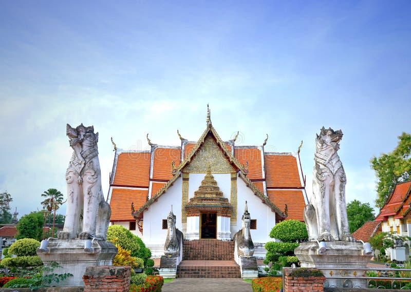 Wat Phumin o Phu Min Temple, el templo antiguo famoso en NaN fotografía de archivo libre de regalías