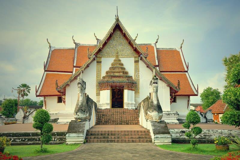Wat Phumin o Phu Min Temple, el templo antiguo famoso en NaN foto de archivo libre de regalías